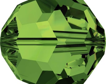 Swarovski Crystal Round Beads 5000 - 3mm 4mm 6mm 8mm 10mm - Dark Moss Green