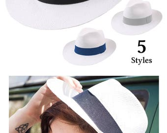 Straw Fedora Hat, women's or men's hat