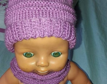 Hat and neck 48 cm doll