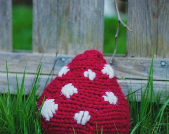 Silly Toadstool - Knitted Toy - Knitting Pattern - PDF
