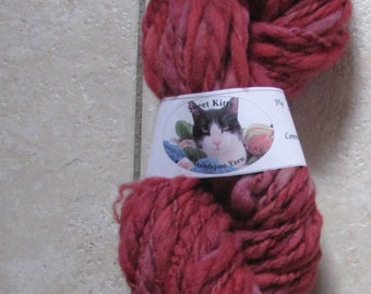 sweet kitty handspun yarn bulky 2 ply