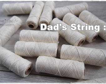 Craft String for mixed media and cardmaking (full roll) - (whitish creme color)