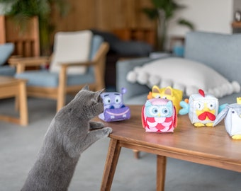 Interactive Toy Set for Cats and Kittens (Zoo Buddies)