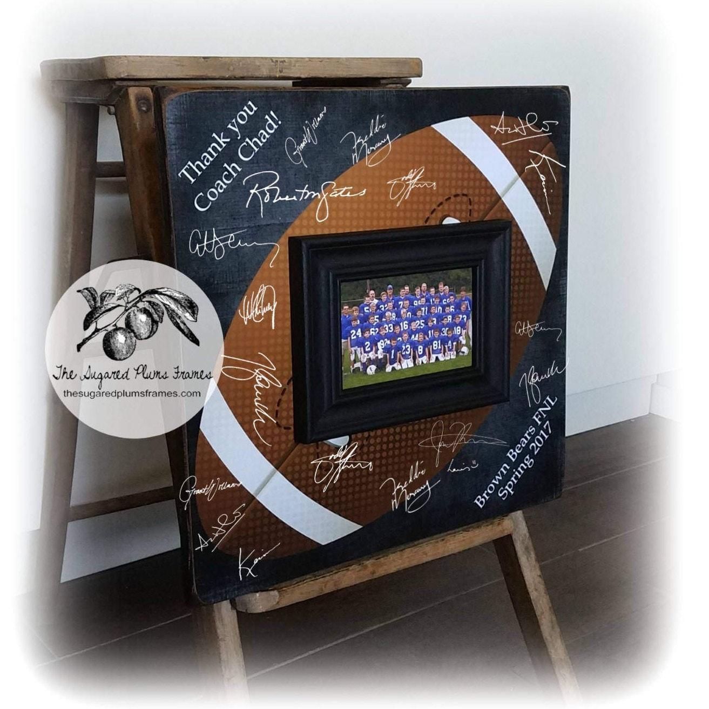 Football Coach Gift, Football Guest Book, Signature Frame, Baseball ...