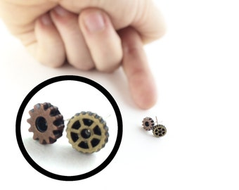 Tiny Stud Earrings For Men Women Steampunk Accessory Steampunk Clothing Women Mismatched Stud Earrings Small Mens Piercing 17A