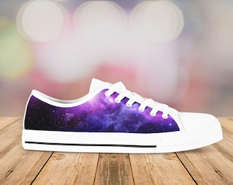Galaxy Shoes - Space Sneakers - White- Connect to the universe in these Kiks