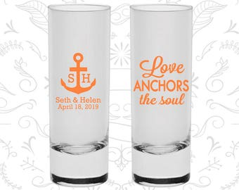 Love Anchor the Soul Shooters, Imprinted Shooter Glasses, Anchor Shooters, Nautical Shooters, Custom Shooters (94)