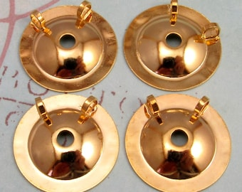 Button To Pendant Converter 20 MM, Gold 4 Pc. AG199