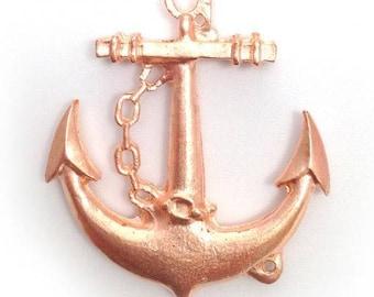 1 followers anchor, bright copper, 43mm, 1 piece, marine, ship anchor