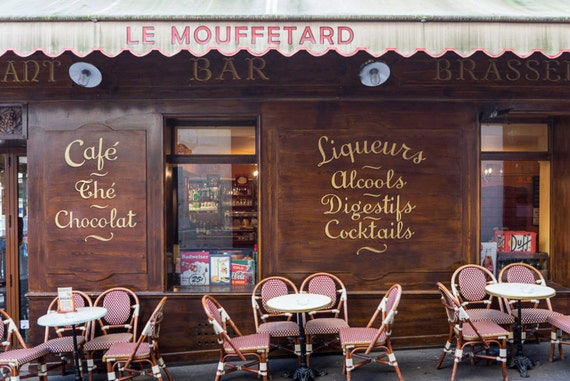 Paris Photography Le Mouffetard Restaurant Fine Art Travel