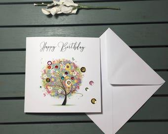 Birthday - Sequin tree