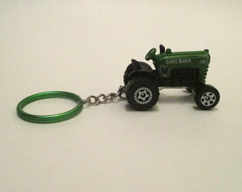 Farm Tractor keychain,David Brown Cropmaster,Lopez Ranch key ring, Mens or Womens keychain, Mens or Womens gift Stocking