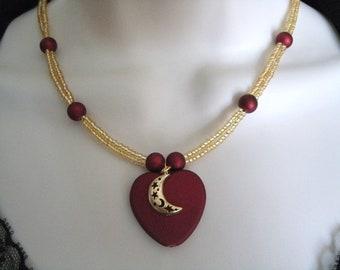 Crescent Moon Jewelry Set, boho jewelry gypsy jewelry bohemian jewelry hippie jewelry hipster moroccan ethnic new age metaphysical