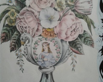 Gorgeous Victorian art with reverse painted glass