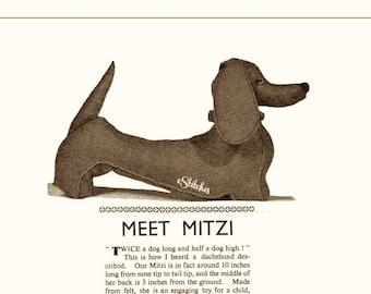 1950s Stuffed Dog aka Mitzi the Dachshund - Sewing pattern PDF 2496