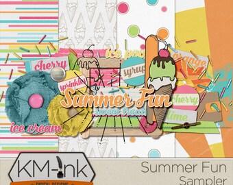 Digital Scrapbook Sampler: Summer Fun