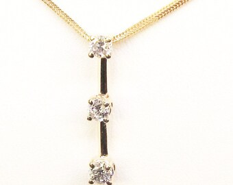 Diamond Pendant 14Kt Gold with Chain