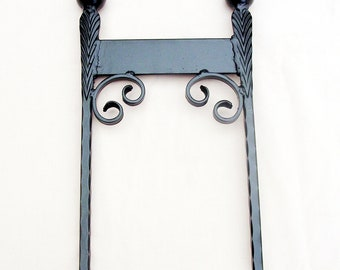 Victorian style classic boot scraper,wrought iron ,blacksmith made
