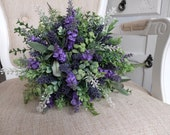 Rustic lavender and green...