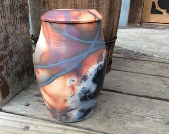 Cremation Urn for Ashes, Custom Urn, Human Urn, Memorial Urn Pottery Saggar Handmade