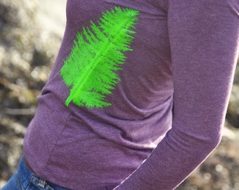 Pacific Northwest Trees Long Sleeve Women's Tee