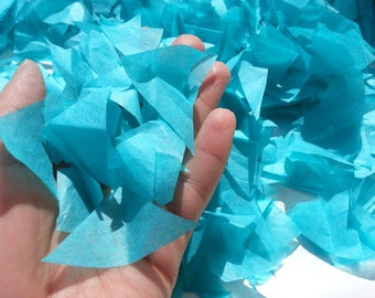 PUFFetti Triangle Scrap Handmade Recycled CONFETTI Birthday (1) Favor Bag Sample Breakfast at Tiffany's Blue Theme Events Handmade by DORANA