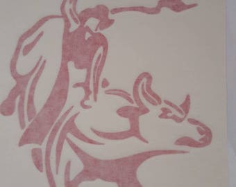 Bull Rider Decal