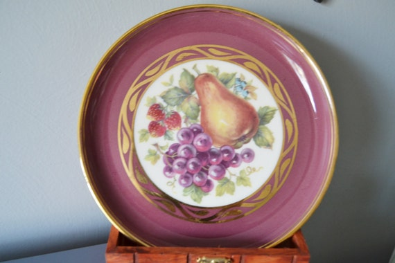 Like this item? & Hyalyn Porcelain Plate Decorative Fruit Plate 1960s Retro Wall