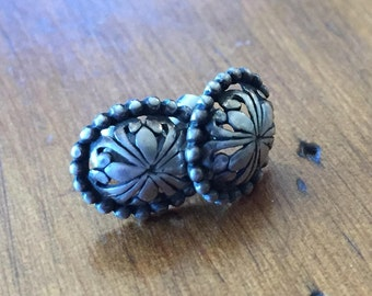 Sterling Silver Earrings Made in MEXICO Teeny Tiny Pierced Silver Posts