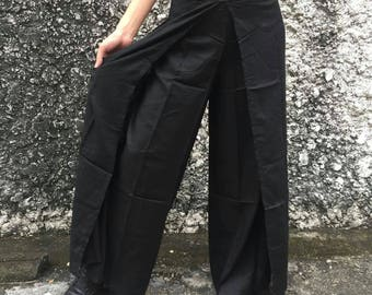 Black Palazzo Pants Elegant Boho Bohemian Gypsy Tribal style fashion Clothing Harem reso pants Beach Nightwear Trousers Wild Legs women gift