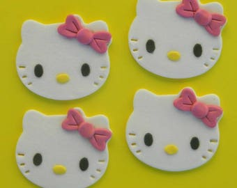 edible 12 HELLO KITTY cupcake cake decorations topper decoration party wedding birthday valentine cookie