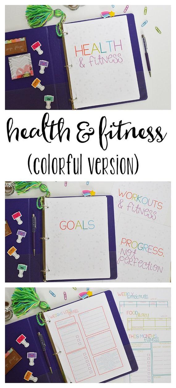 Fitness-Planer Gesundheit und Fitness Planer druckbare