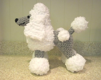 Crocheted Poodle Stuffed Animal Pattern - Digital Download - ENGLISH ONLY