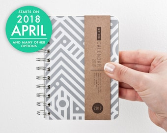 Weekly Pocket Planner 2018 2019 With High Quality Paper! Minimal Small  Diary Calendar Kalender Journal