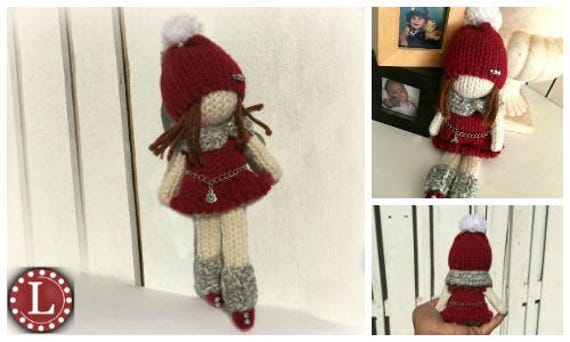 Amigurumi Loom Patterns : Loom knitting patterns doll toys amigurumi tiny dolls the