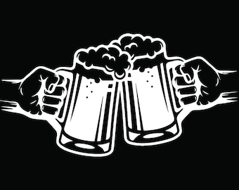 Beer Logo #6 Mug Glass Pub Bar Tavern Bartender Brew Brewery Cheers Alcohol Liquor Ale Drink.SVG .EPS .PNG Clipart Vector Cricut Cut Cutting