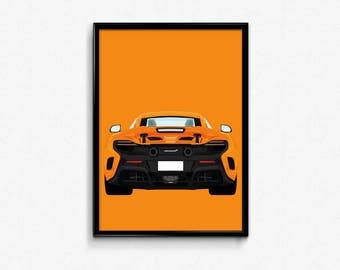 McLaren 675LT A3 Print