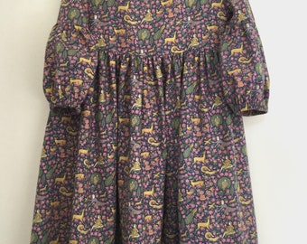 Girls Liberty of London Floral Dress Long Sleeve