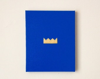 ROYALS - Blue and Gold Royals PAINTING - Gold Kansas City Royals Art - Kansas City Royals Wall Hanging - Royals Crown - Royals Fan Art