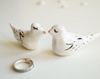 Wedding Cake Topper, Bird Couple, Love Birds, Wedding Cake Decor, Cake Topper by Her Moments