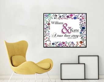 Unique wedding gift Personalized Wedding Gift for Couple Wedding Gift  Personalized Gifts for Couple - NOT Framed