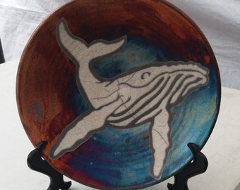 Hand Thrown Bowl Matte Whale *** (w/ FREE SHIPPING!)