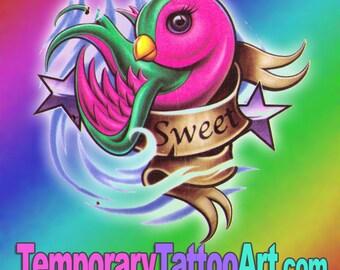 Temporary Tattoo Bird - 2x3 inch