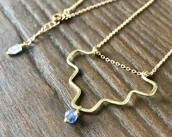 Aztec Iolite Necklace