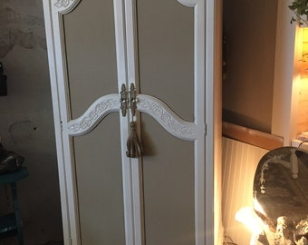 French Armoire, Shabby Chic, Two Door, Painted, Cottage Style, Romantic, Pick Up Only