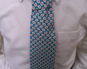 Royal Blue Necktie - Mens Tie or Boys Necktie in Blue and Orange