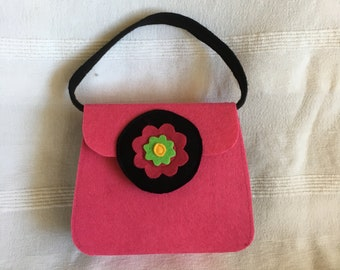 Kids Tote Bag, Kids handbag, Flower, Felt, Gift for children