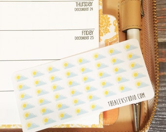 MINI Stickers -- Partly Sunny Weather
