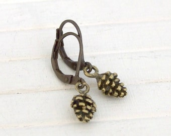Fir Cone Earrings ...  pine cone earrings, autumn earrings, fall earrings, rustic earrings, woodland earrings