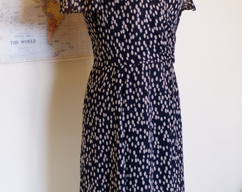 Polka Dot Silk Dress (Size 6)